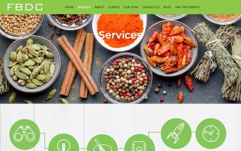 Screenshot of Services Page fbdc.co.uk - Services | FBDC - captured Dec. 19, 2018