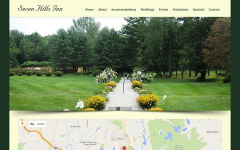 Screenshot of Maps & Directions Page sevenhillsinn.com - Directions to the Seven Hills Inn   The Seven Hills Inn - captured Jan. 10, 2016
