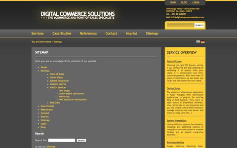 Screenshot of Site Map Page digitalcommercesolutions.com - Sitemap «  Digital Commerce Solutions - captured Sept. 30, 2014