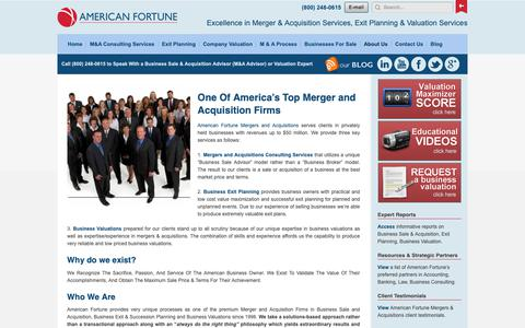 Screenshot of About Page fortunebta.com - America's Top Merger and Acquisition Firms | American Fortune - captured Oct. 3, 2018