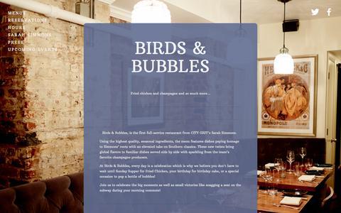Screenshot of Home Page birdsandbubbles.com - Birds & Bubbles - captured Aug. 28, 2015