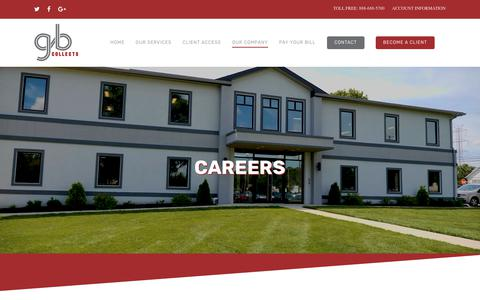 Screenshot of Jobs Page gbcollects.com - Careers – GBCollects - captured Nov. 4, 2018