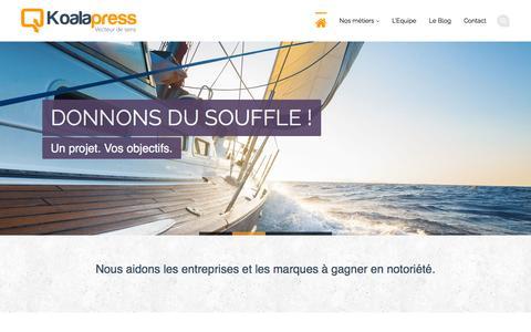 Screenshot of Home Page koalapress.fr - Koalapress | Conseil Editorial et Relations Presse - captured Sept. 30, 2014