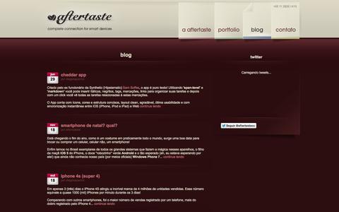 Screenshot of Blog aftertaste.cc - blog | aftertaste - captured Sept. 30, 2014