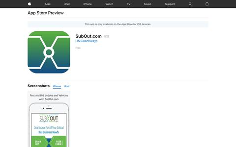 SubOut.com on the App Store