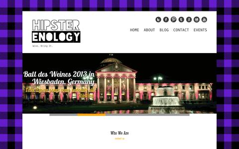 Screenshot of Home Page hipsterenology.com - Hipster Enology | Wine. Bring it. - captured Sept. 30, 2014