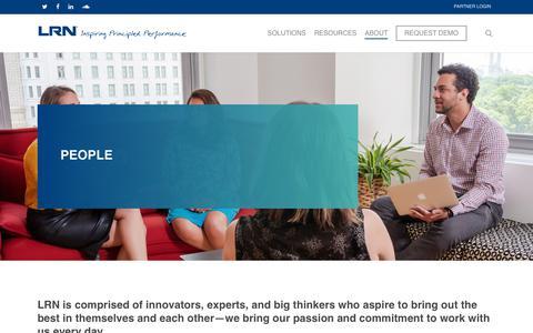 Screenshot of Team Page lrn.com - People – LRN Corporation - captured July 21, 2019