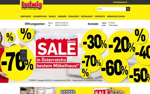 Screenshot of Home Page ludwig.eu - Möbel Ludwig - captured Jan. 24, 2016