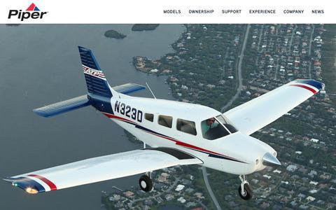 Screenshot of Testimonials Page piper.com - M600 Flight Demonstration - Piper - captured Sept. 28, 2018