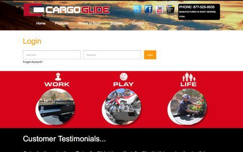 Screenshot of Login Page cargoglide.com - Login | CargoGlide - captured Oct. 28, 2014