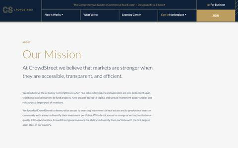 Screenshot of About Page crowdstreet.com - About - CrowdStreet - captured April 18, 2018
