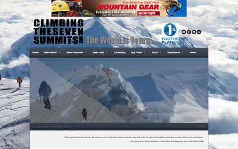 Screenshot of Home Page climbingthesevensummits.com - Climbing The Seven Summits - captured Sept. 30, 2014