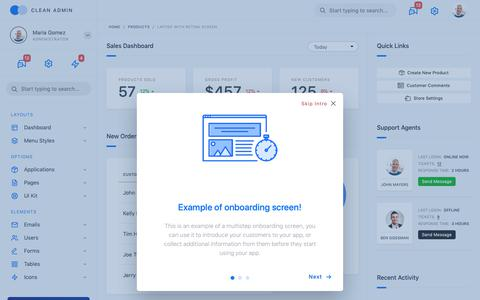 Screenshot of Products Page channelmanager.pt - Admin Dashboard HTML Template - captured Sept. 27, 2018