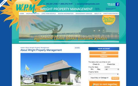 Screenshot of About Page wpmobx.com - About Us | Vacation Homes in NC | Outer Banks Property Management - captured Jan. 21, 2017