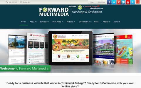 Screenshot of Login Page forwardmultimedia.com - Forward MultimediaTrinidad Website Design, E-Commerce | Trinidad Website Design - captured Aug. 4, 2016