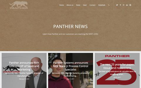 Screenshot of Press Page panthersys.com - News - Panther Systems - captured Sept. 26, 2018