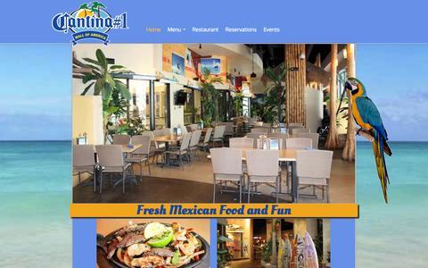 Screenshot of Home Page cantina1.com captured Sept. 29, 2014