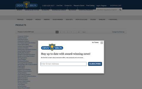 Screenshot of Site Map Page dinntrophy.com - Site Map | Dinn Trophy - captured Oct. 12, 2017
