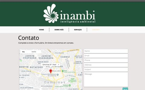 Screenshot of Contact Page inambi.com - in.ambi | inteligência ambiental - captured July 27, 2018