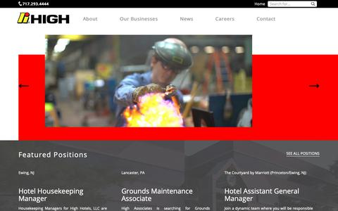 Screenshot of Jobs Page high.net - Careers at The High Companies - captured Sept. 28, 2018