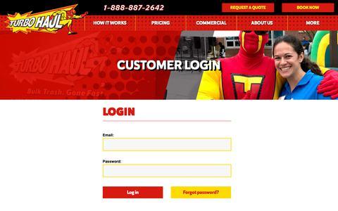 Screenshot of Login Page turbohaul.com captured Oct. 20, 2018