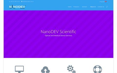 Screenshot of About Page nanodev.com.tr - Nanodev Mühendislik Hakkında - captured Dec. 6, 2016