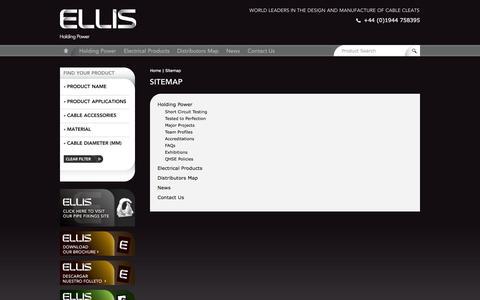 Screenshot of Site Map Page ellispatents.co.uk - Sitemap - captured Sept. 29, 2014