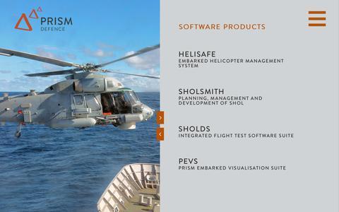 Screenshot of Products Page prismdefence.com - Prism Defence - Products - captured Sept. 29, 2018