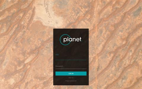 Screenshot of Login Page planet.com - Planet - captured Dec. 29, 2016