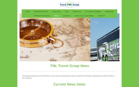 Screenshot of Press Page tml-travel-group.com - News - Current - TML TRAVEL GROUP - - captured Aug. 12, 2015