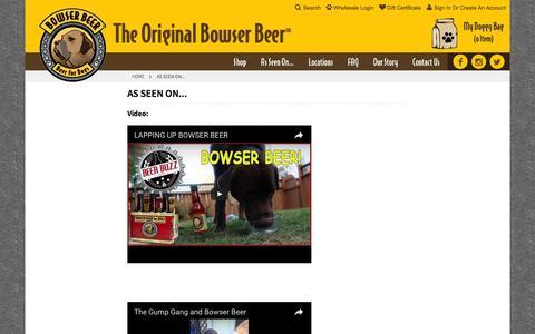 Screenshot of Press Page bowserbeer.com - As Seen On... - captured Nov. 28, 2016