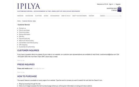 Screenshot of Support Page ipilya.com - Customer Service | Ipilya - captured Feb. 4, 2016