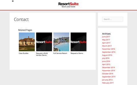 Contact | ResortSuite