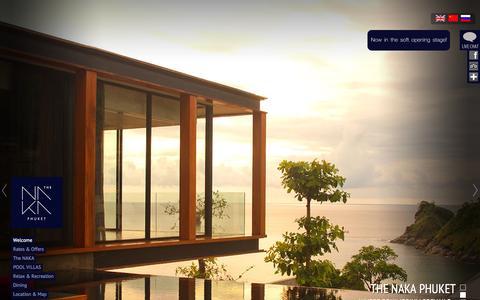 Screenshot of Home Page thenakaphuket.com - THE NAKA PHUKET | The exclusive luxury villas on the west coast of Phuket, Thailand. - captured Sept. 24, 2014