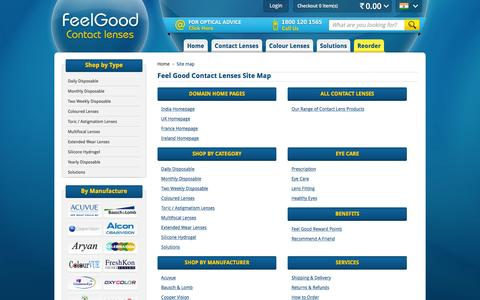 Screenshot of Site Map Page feelgoodcontacts.in - Site Map | FeelGoodContacts.in - captured Feb. 24, 2016