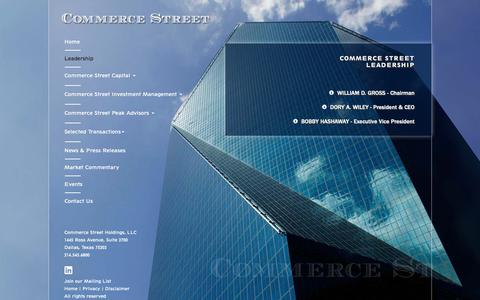 Screenshot of Team Page commercestreetcapital.com - Leadership | Commerce Street Holdings - captured Sept. 29, 2018