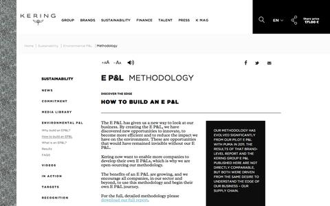 Methodology | Kering