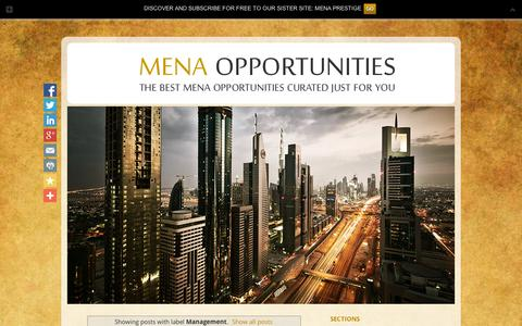 Screenshot of Team Page menaopportunities.info - MENA OPPORTUNITIES: Management - captured Sept. 10, 2014