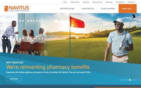 Screenshot of Home Page navitus.com - Navitus - Welcome - captured May 14, 2019