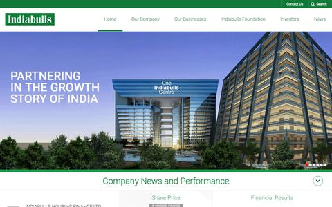 Screenshot of Contact Page indiabulls.com - Indiabulls Group is one of India´s top Business houses with businesses spread over Real Estate, Infrastructure, Financial Services and Securities sectors. - captured Oct. 1, 2015