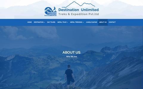 Screenshot of About Page destinationunlimited.com.np - Destination Unlimited - captured Nov. 24, 2016