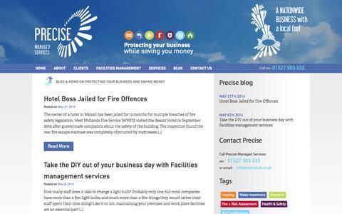 Screenshot of Blog preciseuk.co.uk - Blog & News on Protecting Your Business and Saving Money - captured Oct. 6, 2014