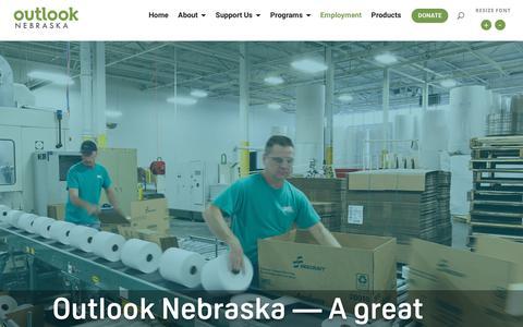 Screenshot of Jobs Page outlookne.org - Job Opportunities   Outlook Nebraska - captured Oct. 18, 2018