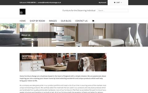 Screenshot of About Page homefurniturerange.co.uk - About Us - Home Furniture Range - captured Sept. 30, 2014