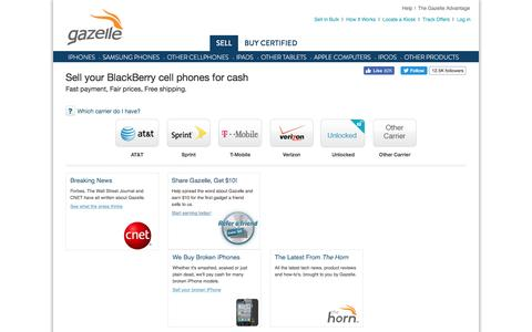 Sell Blackberry RIM and Blackberry RIM Trade In | Gazelle