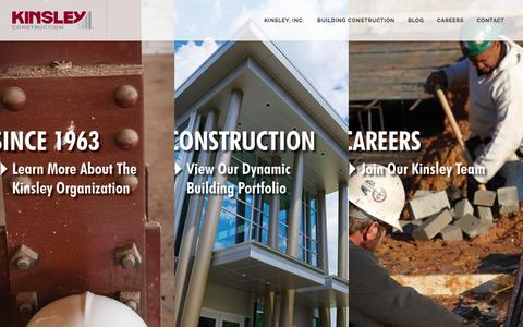 Screenshot of Home Page rkinsley.com - Kinsley Construction, Inc. - captured Feb. 12, 2016