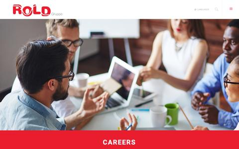 Screenshot of Jobs Page rold.com - Careers | Gruppo Rold - captured Feb. 22, 2016