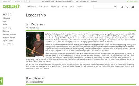Screenshot of Team Page cariloha.com - Leadership - captured May 4, 2017