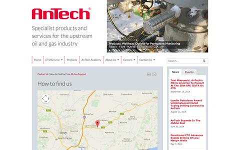 Screenshot of Maps & Directions Page antech.co.uk - How To Find Us - captured Oct. 4, 2014