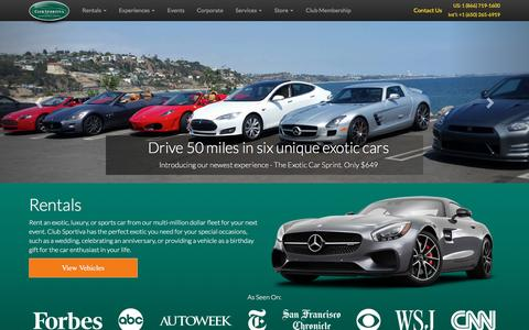 Screenshot of Home Page clubsportiva.com - The Enthusiast Lifestyle   San Francisco & Los Angeles - captured May 17, 2017